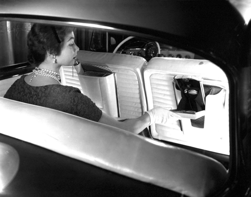 1955 Dg LaFemme back interior w model