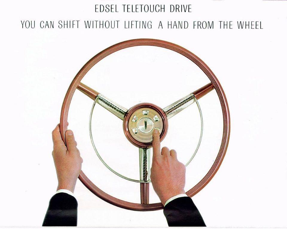 1958 Edsel Steering wheel push button auto trans selectors