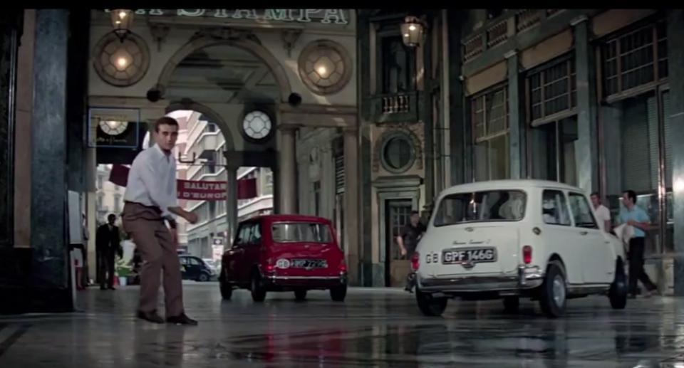 1968 Austin Mk I Mini Cooper S as seen in The Italian Job