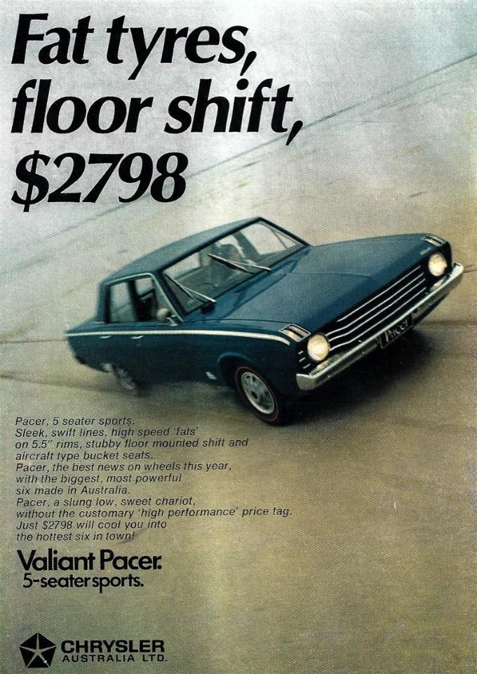 1969 Valiant VF Pacer 225 4