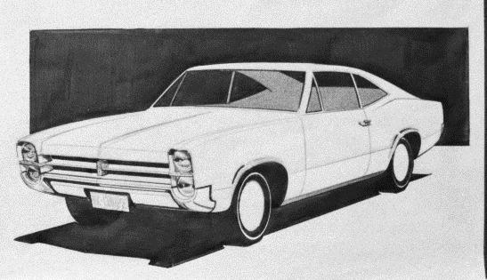 Early design idea for the HK Monaro 1