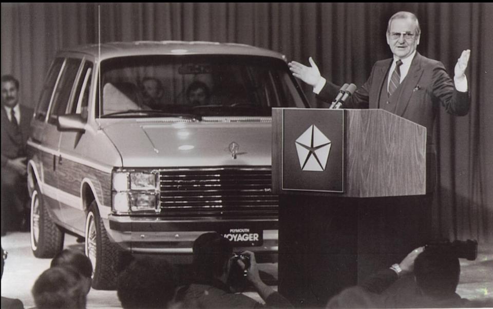 Iacocca launches the Chrysler mini van