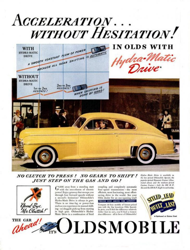 Oldsmobile Auto ad