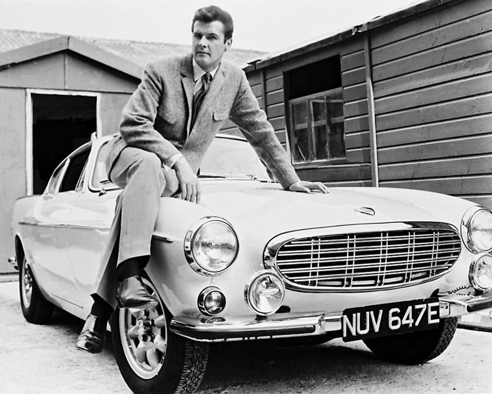 Roger Moore with Saint Volvo NUV 647E