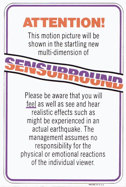 sensurround poster earthquake movie