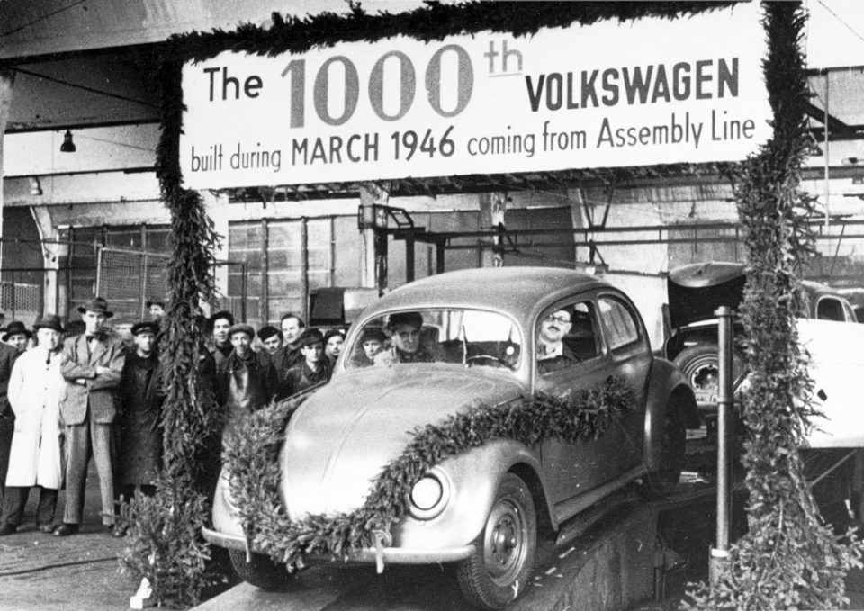 the 1000th VW Beetle 1946