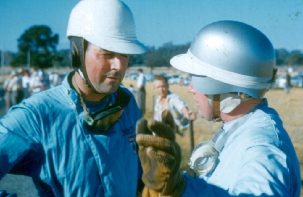 jack brabham and bib stillwell longford 1960