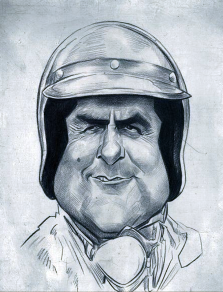 jack brabham caricature