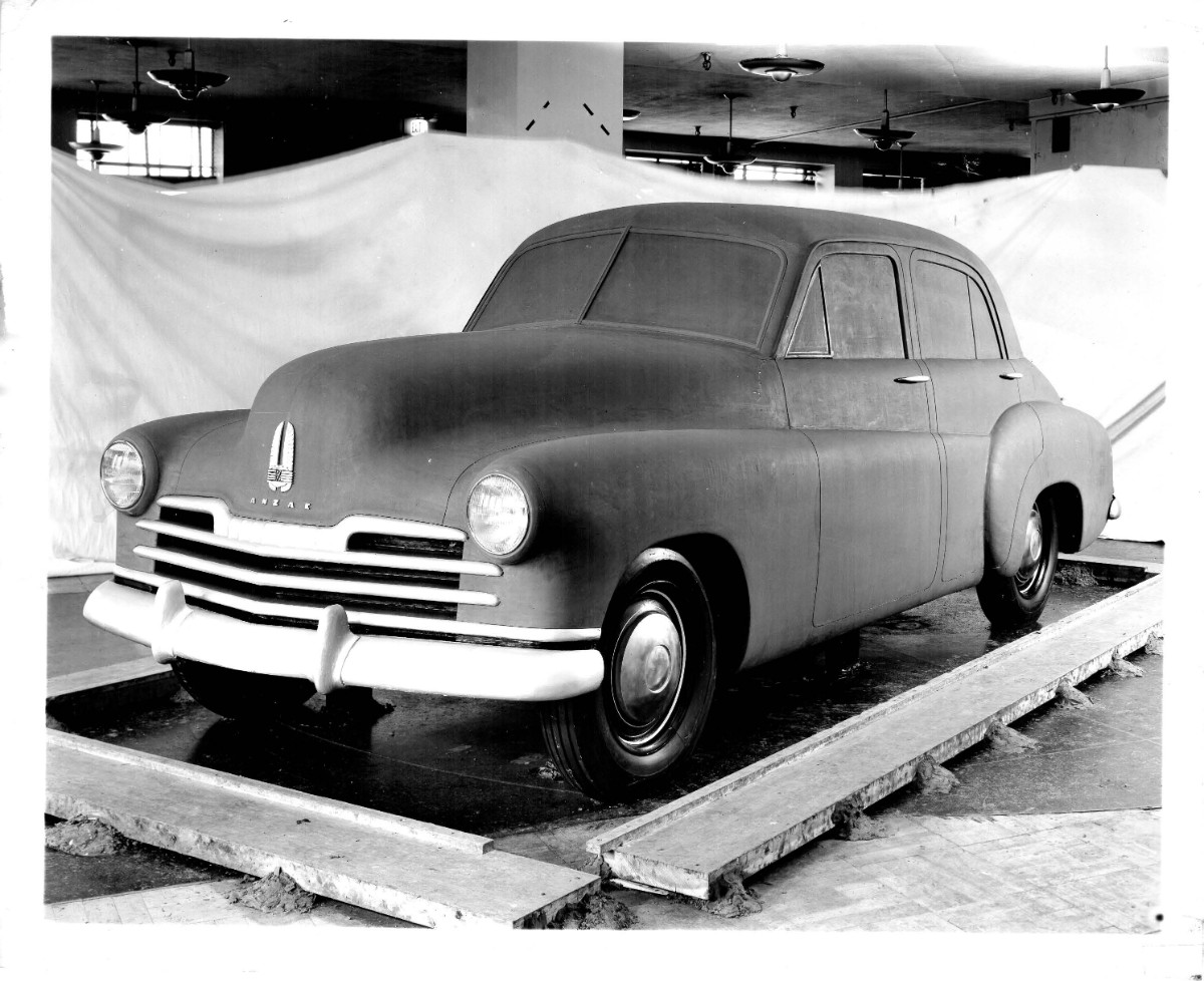 Frank Hershey Holden clay model from 1945 with the name ANZAC