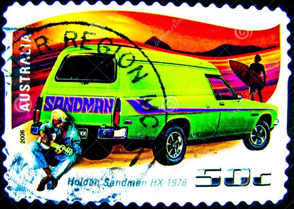 Holden Sandman stamp