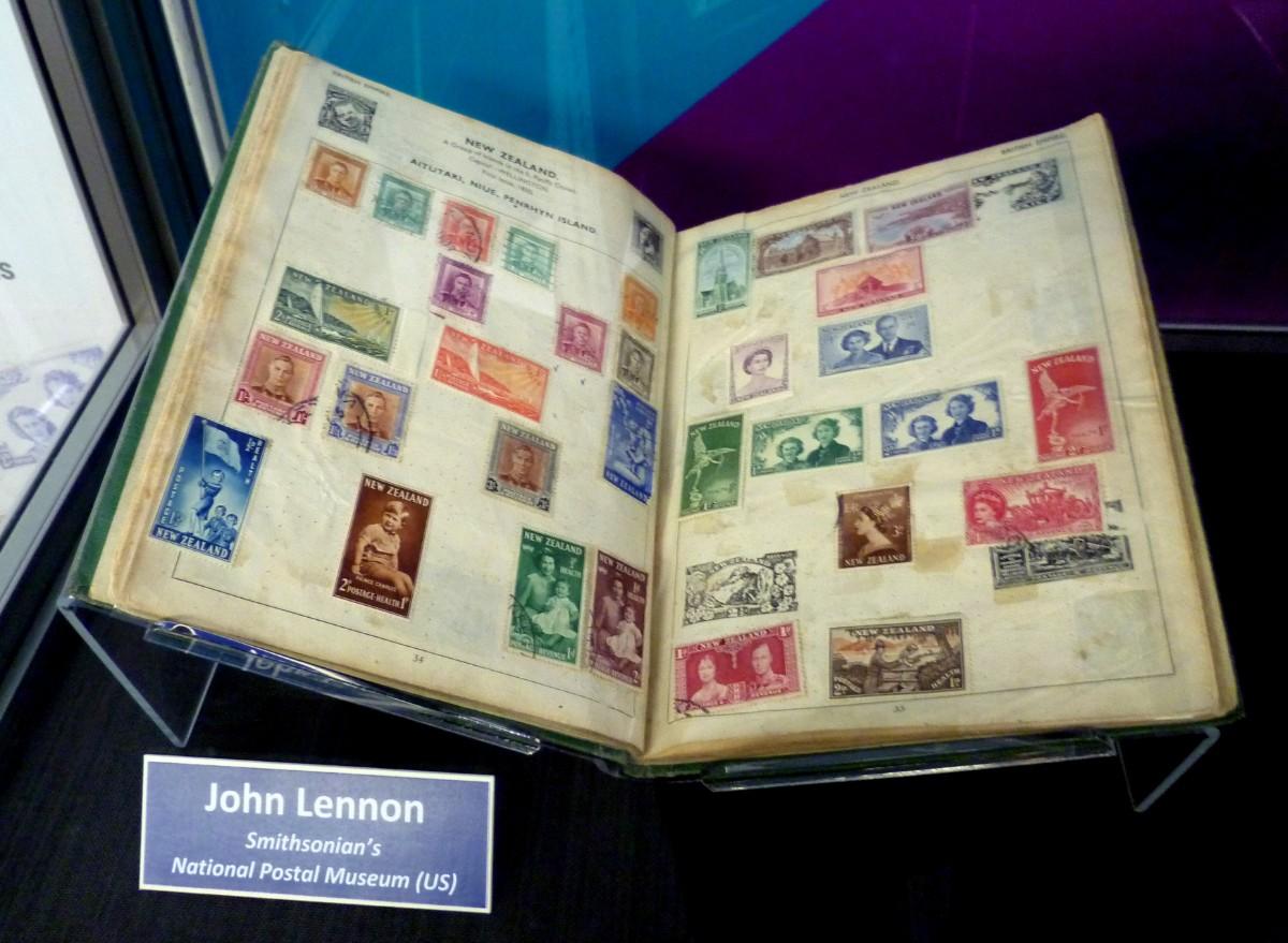 John Lennon stamp collection