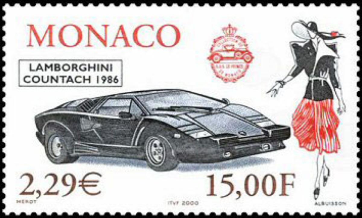 Monaco Lamborghini stamp