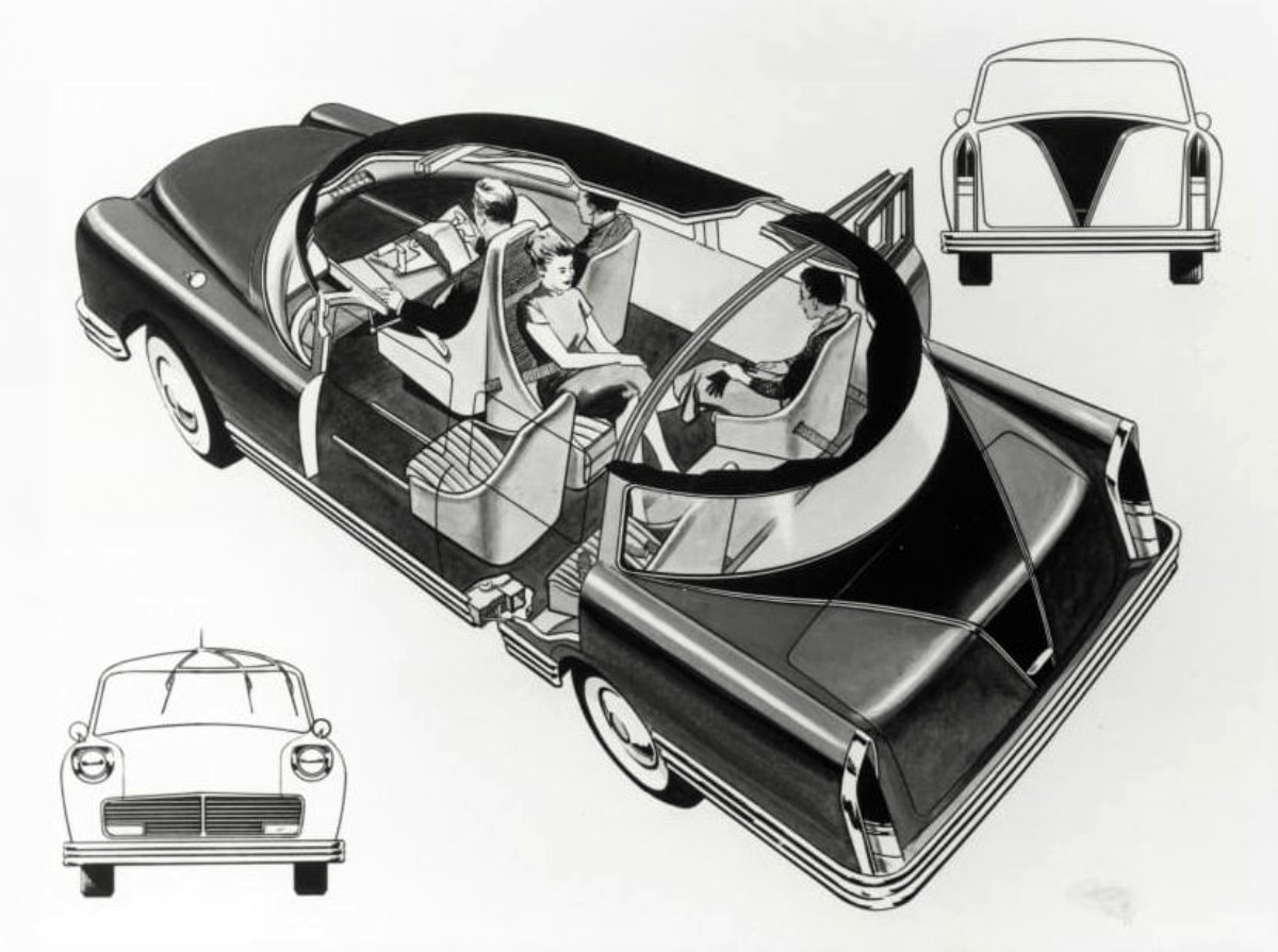 1957 Cornell Liberty Safety Car sketch