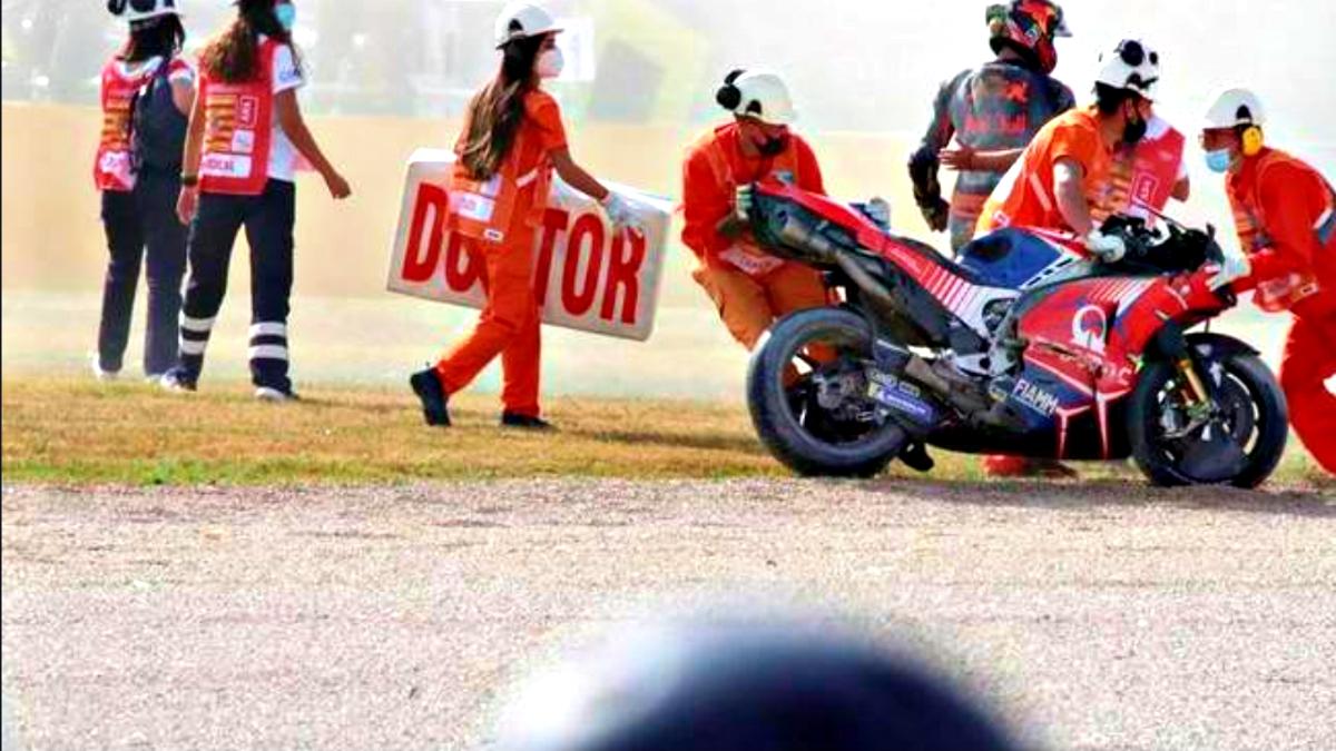 2020 Teruel Grand Prix Miller crash