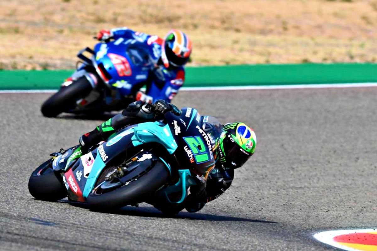 2020 Teruel Grand Prix Morbidelli leads from Rins