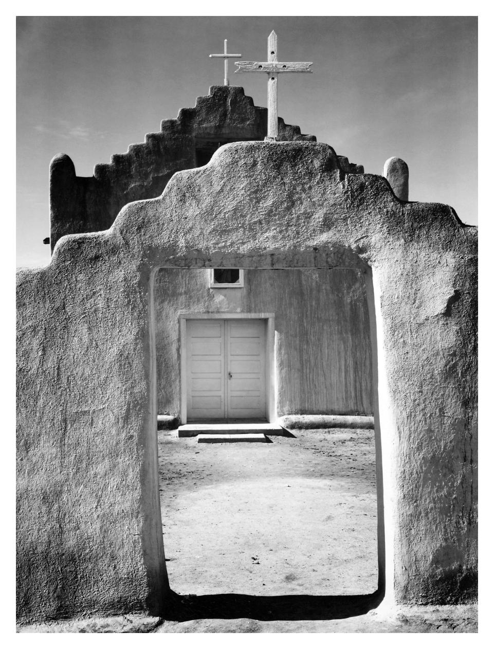Church Taos Pueblo National Historic Landmark New Mexico 1942