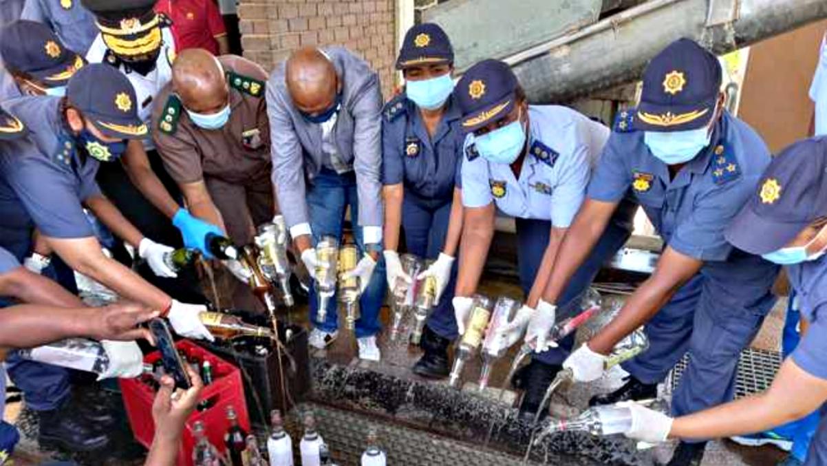 moni police destroy drugs booze