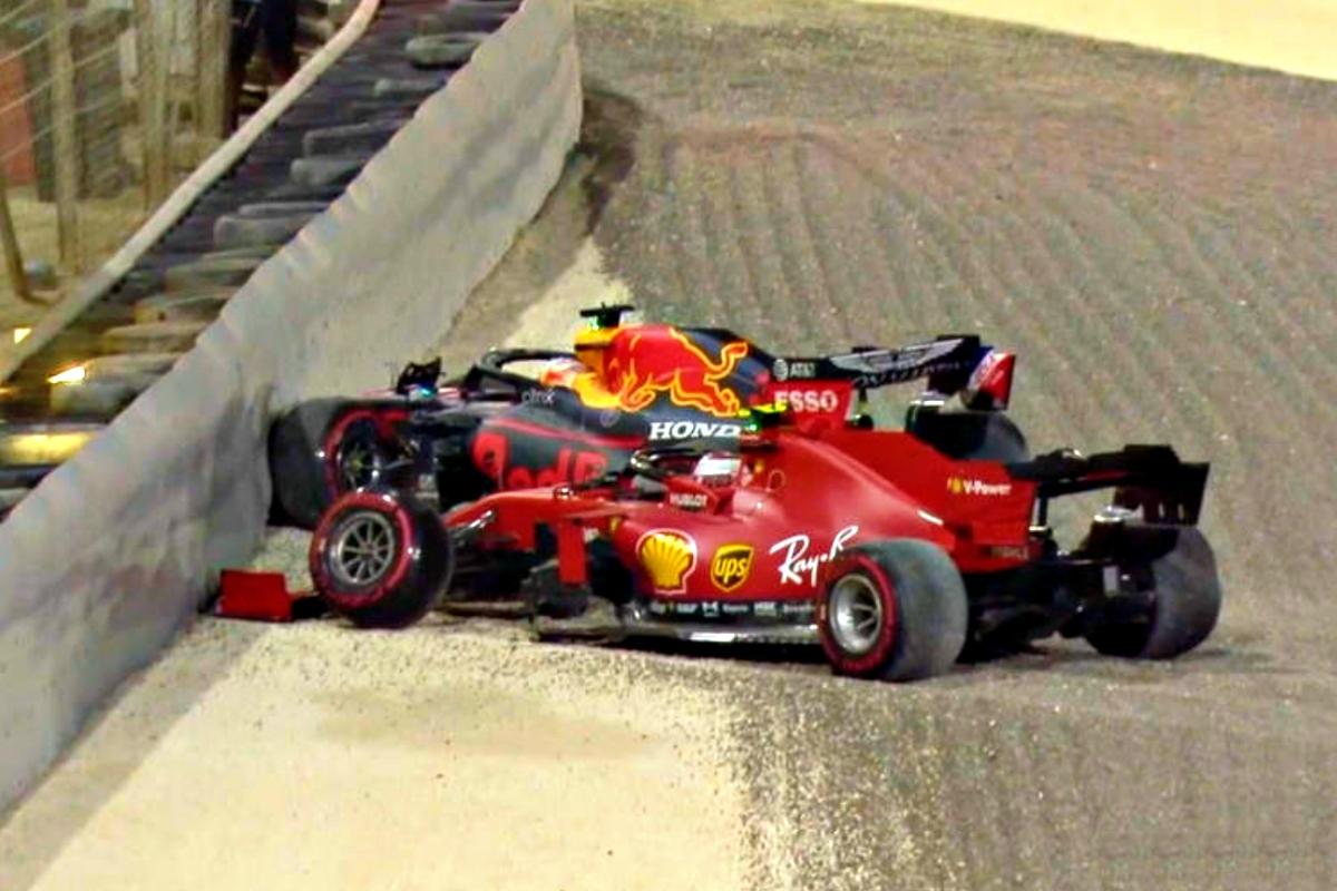 2020 Sakhir Grand Prix Leclerc and Verstappen