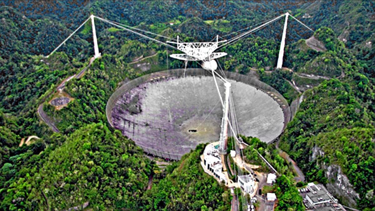 Arecibo telescope before