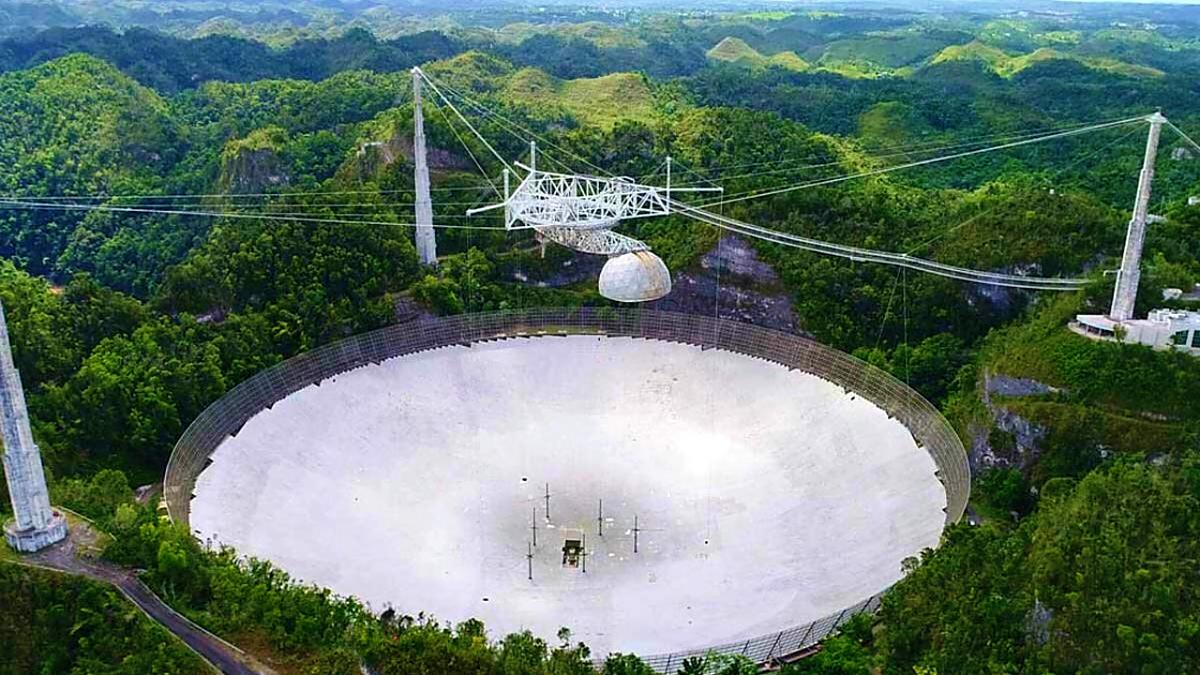 Arecibo telescope closeup