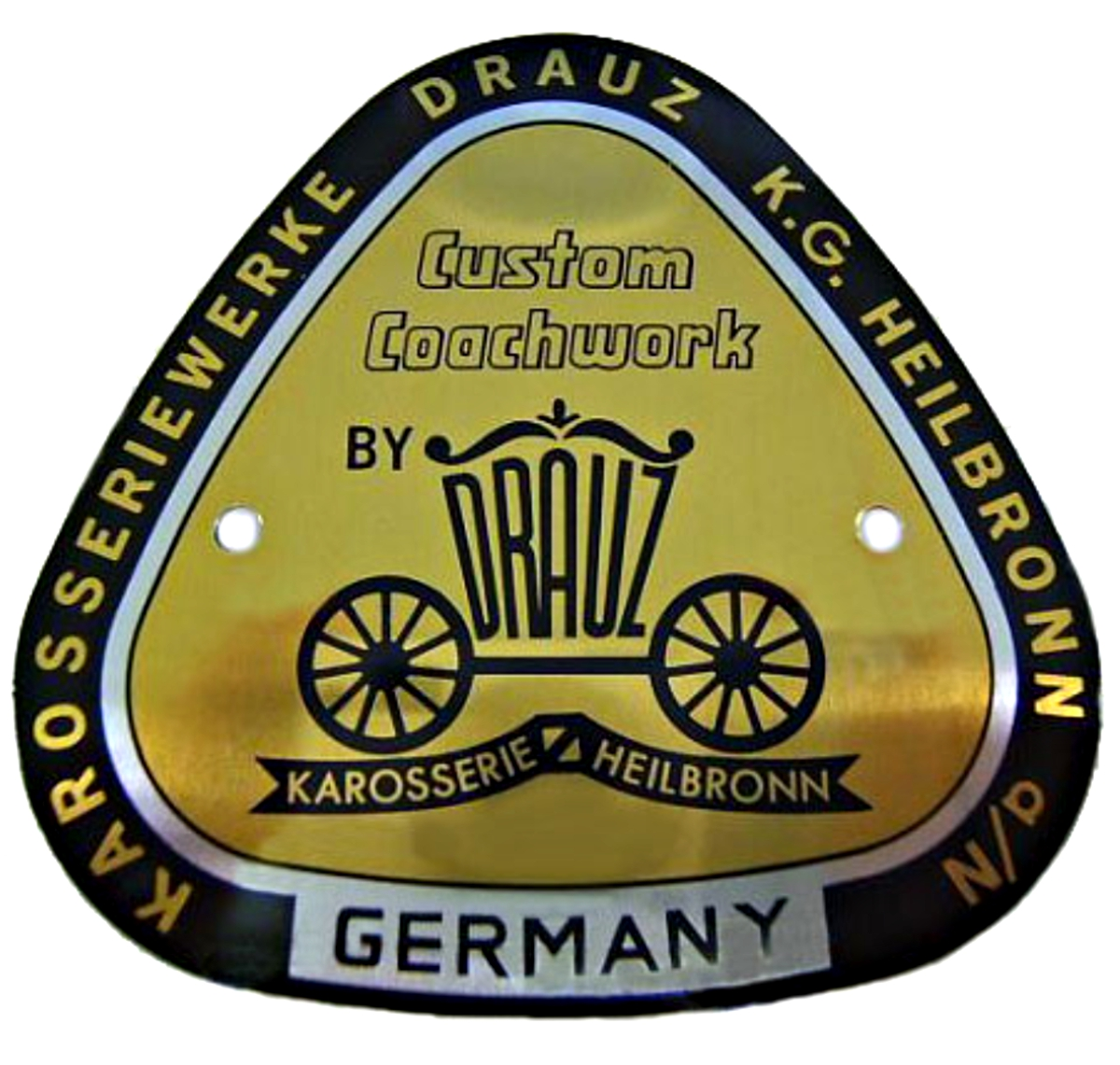 Drauz convertible and roadster badge