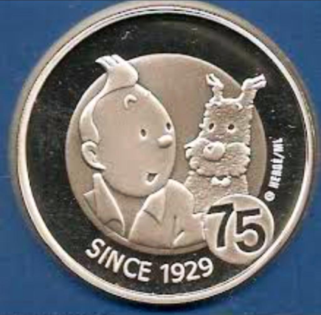 tintin coin 10 euro