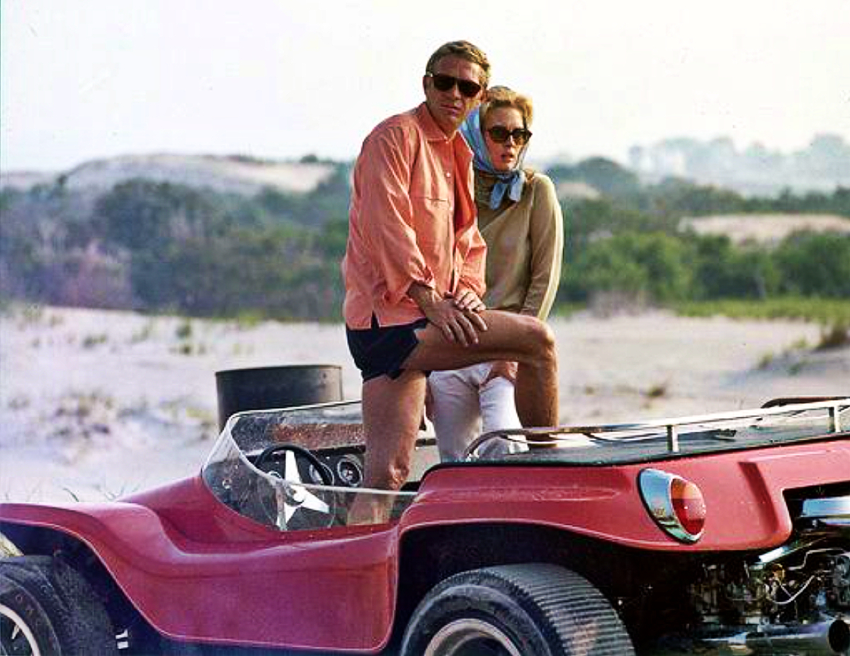 Steve McQueen and Faye Dunaway