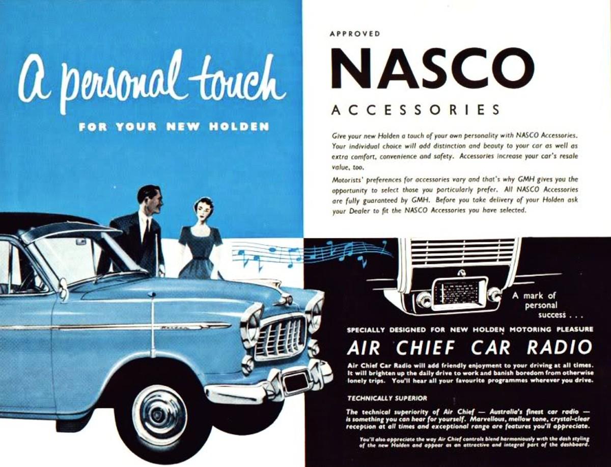 FE Holden NASCO accessory items