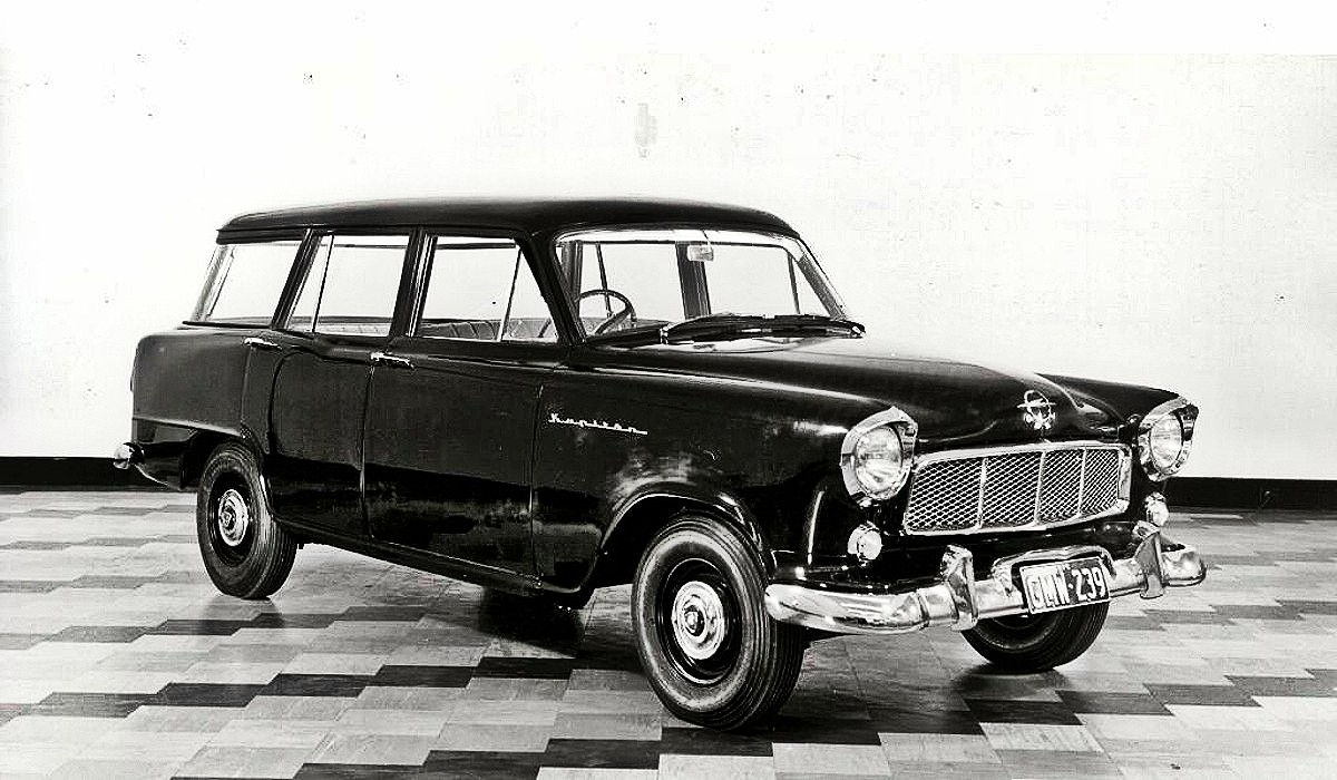 FE Holden station wagon prototype with Opel badges