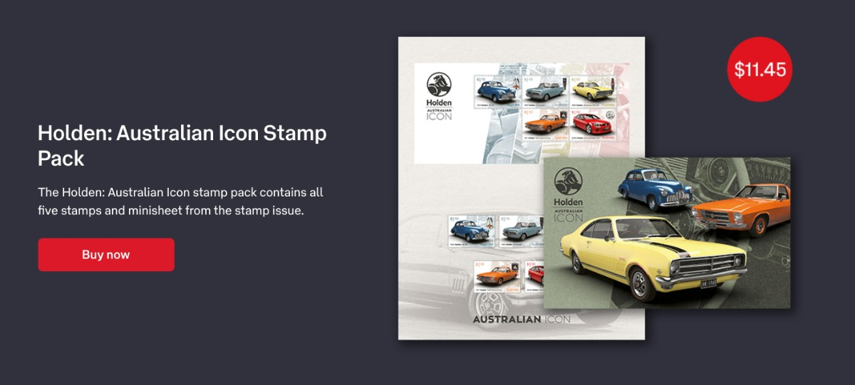 Holden stamps celebrate passing of an icon