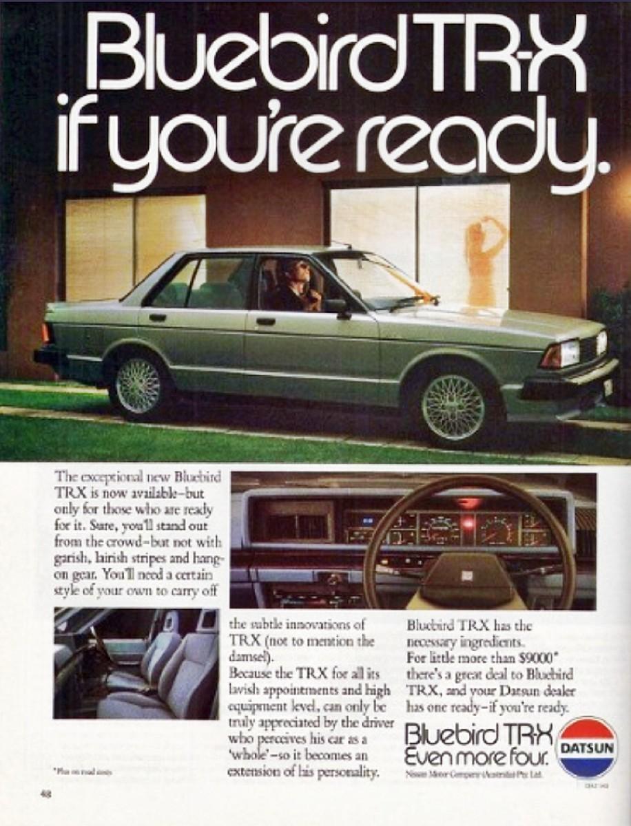 1980s Nissan Bluebird TR X sedan 6