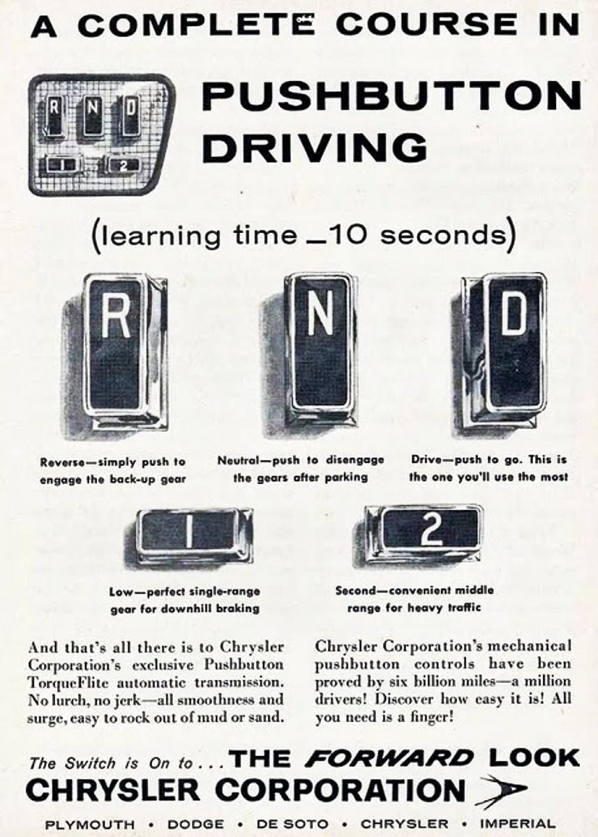 Chrysler push buttons 2