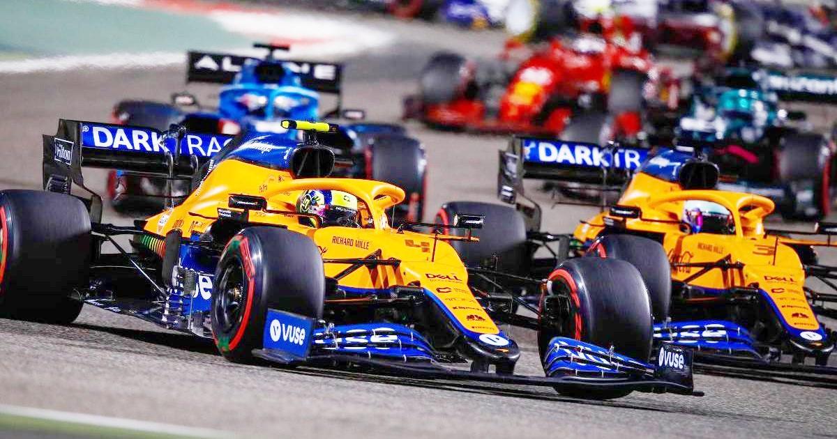 McLaren Lando Norris and Daniel Ricciardo