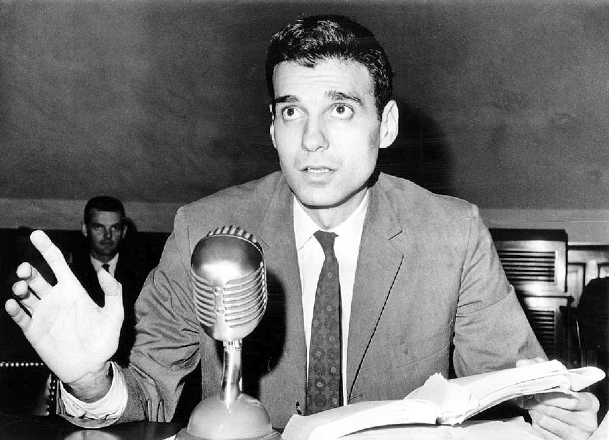 Ralph Nader testifying at the house