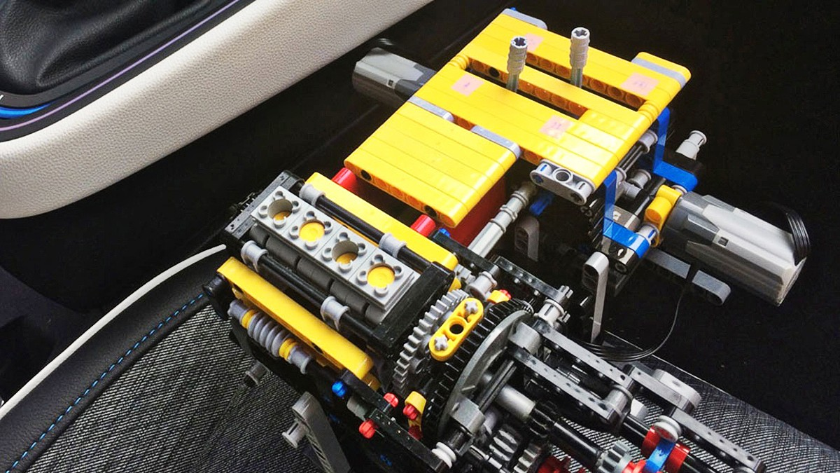 Renault E TECH developed from Lego 8