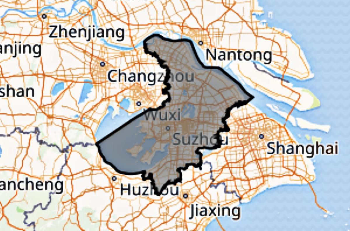 Suzhou in the Jiangsu province