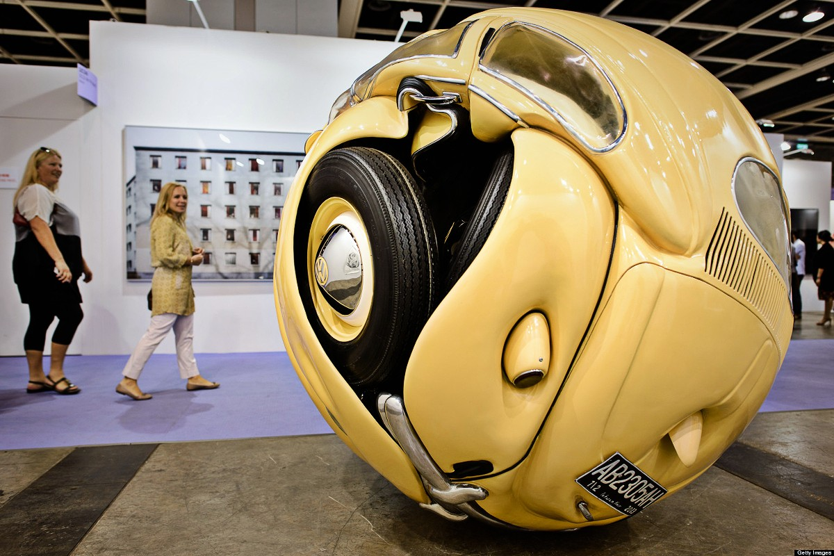 Beetle one day, a perfect sphere the next