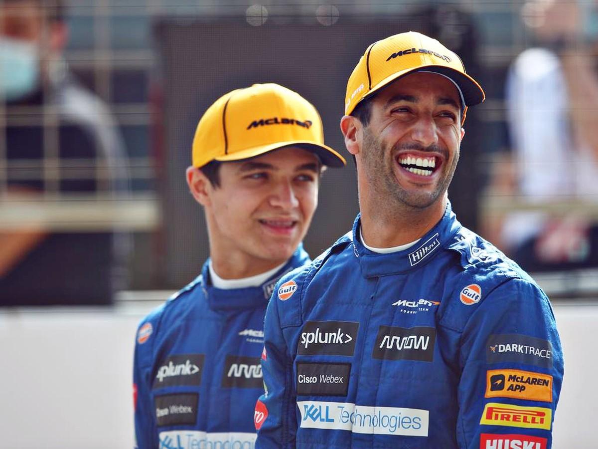 Daniel Ricciardo and team mate Lando Norris