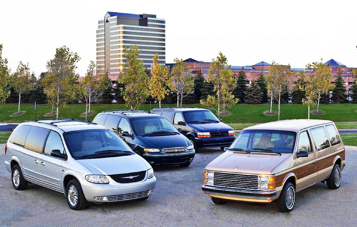 Four generations of Chrysler Minivan