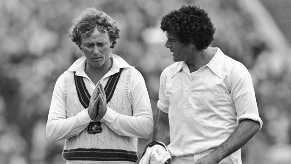 Kim Hughes left with debutant Mike Whitney at Old Trafford in 1981