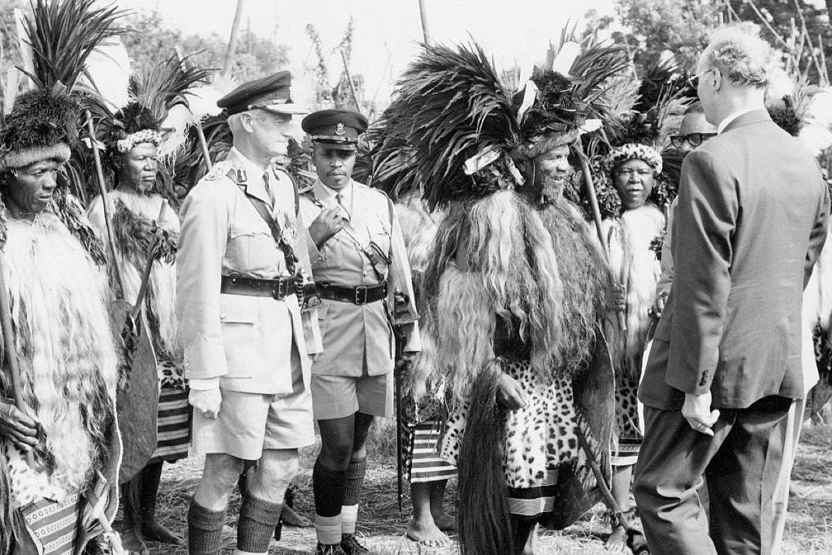 Sobhuza II in the mid 1950s