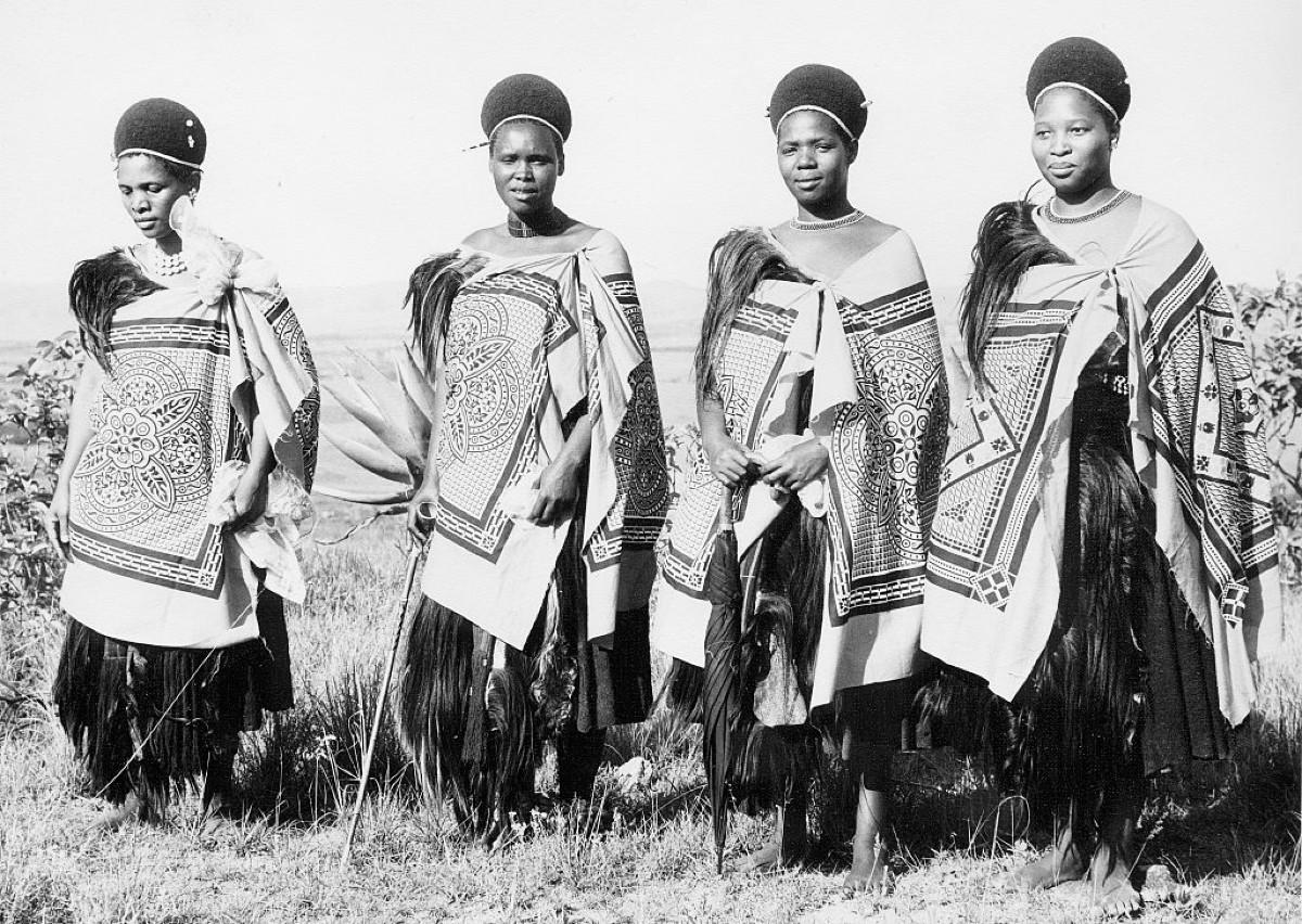 Some of Sobhuza IIs wives