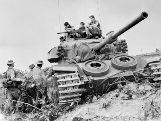 Australian Centurion tank in Vietnam