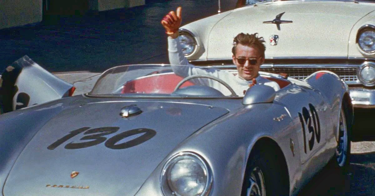James Dean in Porsche