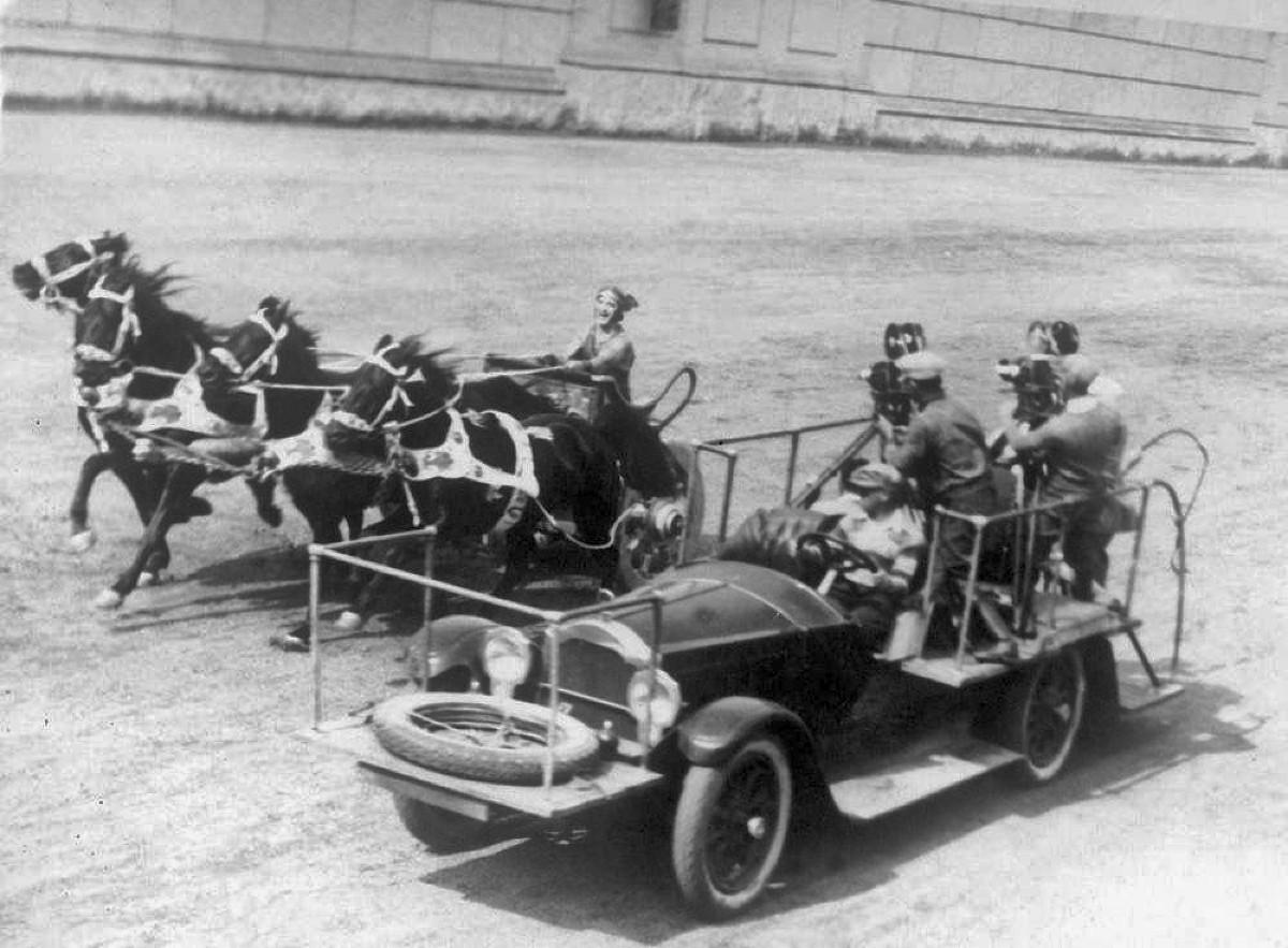 Shooting scene from 1925 Ben Hur film