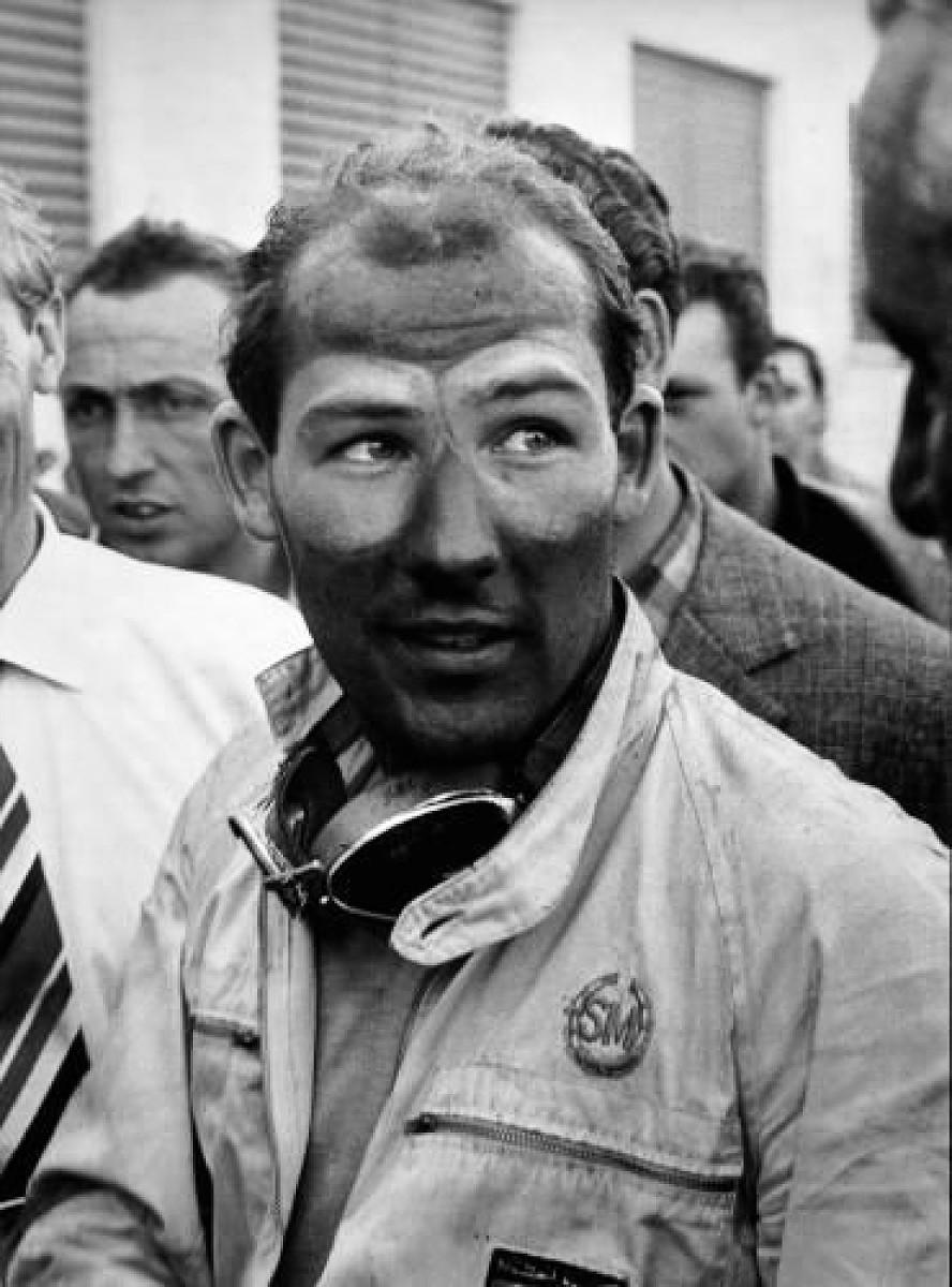 Stirling Moss apres race
