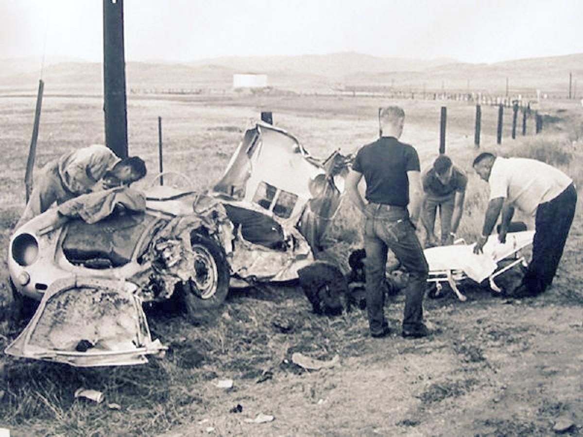Wreck of Dean car