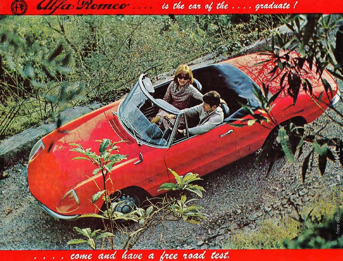 1966 Alfa Romeo Graduate Spider Duetto Brochure
