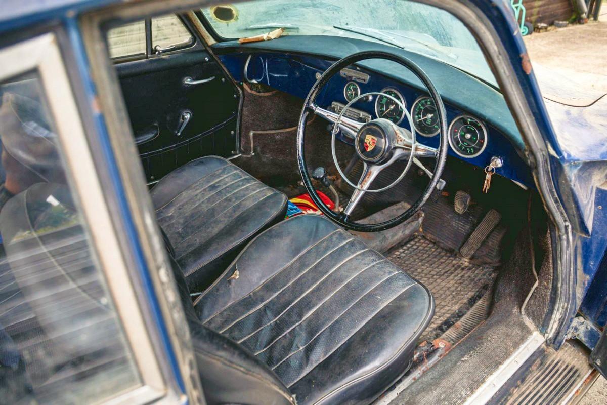 Barn find 1965 Porsche 356C 1600 Super 3