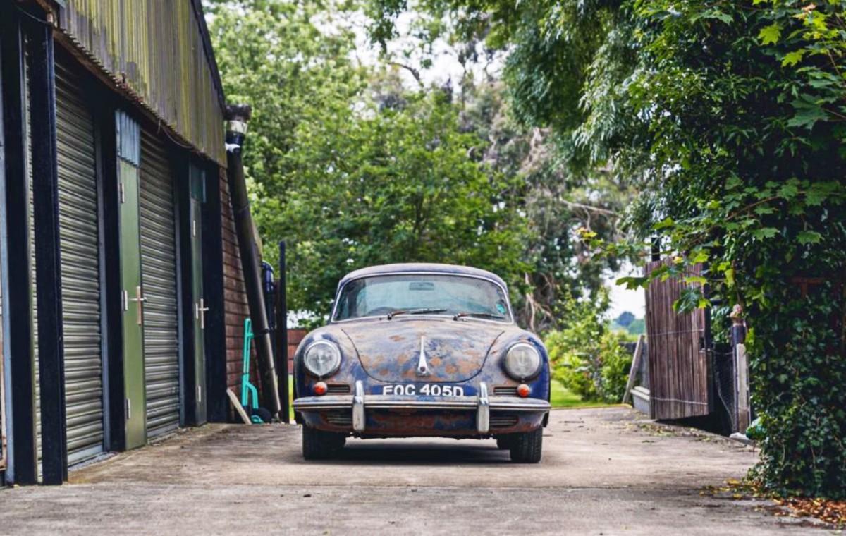 Barn find 1965 Porsche 356C 1600 Super 7